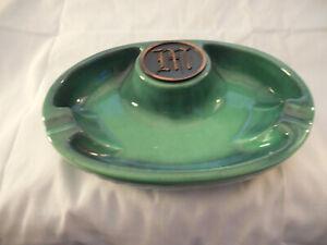 They Hyde park Roseville pottery green ashtray #1950