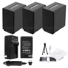3x NP-FV100 Battery + Charger for Sony DCR-SX33 SX45 SX65 SX85 SR88 SR20