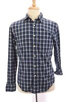 J Crew Mens Washed Tartan Plaid Button Down Shirt Up Front Blue Sz Small