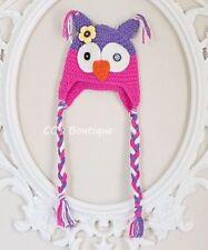 5d8eea8e180 Owl Multi-Color Baby Hats