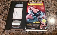 CALENDAR GIRL MURDERS VHS! 1984 BRUTAL THRILLER! SHARON STONE! Basic Instinct