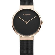 Bering Black Stainless Mesh Band Black Dial Sapphire Watch 14539-166