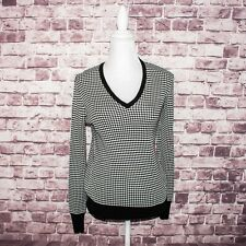 EQUIPMENT Femme Women's Vneck Pullover Sweater Silk Knit Geo Print Sz Medium