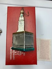 Landmark Creations Mercury Glass Chicago Wrigley Building Christmas Ornament