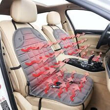 Zone Tech  Gray 2x Thickening Heated Car Seat Chair Heater Cover Cushion Warmer