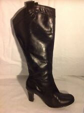 Florence+Fred Black Knee High Leather Boots Size 5
