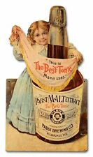 Pabst Malt Extract Victorian Girl Heavy Duty Usa Made Metal Advertising Sign