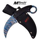 MTech USA Blue Line Tiger Stripes Karambit Survival Knife Tactical Duty Blade