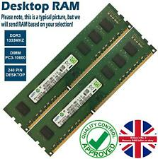 2GB 4GB 8GB Memory RAM Desktop PC3 10600 DDR3 1333MHz 240 Pin Non-ECC Lot