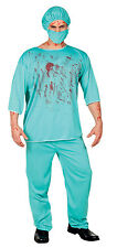 MENS BLOODY SURGEON COSTUME SCRUBS ZOMBIE DOCTOR HOSPITAL OUTFIT HALLOWEEN NEW