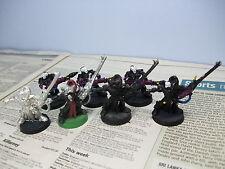 Guerreros de aspecto de 7 Dark Reaper Eldar Warhammer 40,000 40k GW