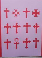 Schablonen 824 Kreuz Gott Wandtattoo Vintage Stanzschablonen Shabby Keilrahmen