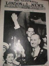 Photo article Lyndon B Johnson re-elected USA President 1964 ref Ay