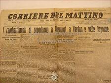 CORRIERE DEL MATTINO del 3 gennaio 1915 Palermo Guerra Mondiale Verdun Sicilia