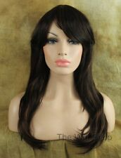 Medium Brown 4 Auburn 30 Highlights Wig Bangs Skin Top Kanekalon CY