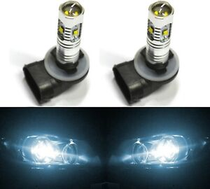 LED 30W 881 H27 White 6000K Two Bulbs Fog Light Replacement Upgrade Lamp OE