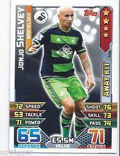 2015 / 2016 EPL Match Attax Away Kit (436) Jonjo SHELVEY Swansea