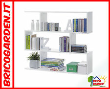 Libreria bassa Scaffale bianco lucido arredo casa soggiorno Design moderno