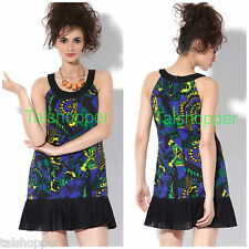 BETSEY JOHNSON $295 Butterfly Boho Pleated Ruffled Flapper Cute Mini Dress NEW 4