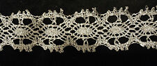 "1-3/8"" IMPORTED METALLIC LACE -SILVER - DOUBLE BORDER"