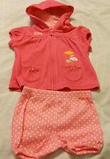 Carter's Girls 2-Piece Set 3-6 Months Pink White Jacket Shorts Kids