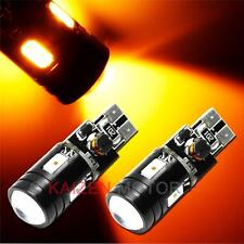 2x 9W No Error Amber T10 CREE 4-SMD Projector LED Side Marker Light 168 158 #A24