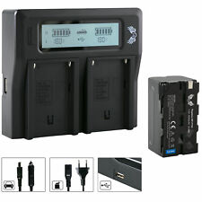SK Akku für Sony NP-F750 4000mAh + Dual Charger NP-F970   1060122 90105 90302