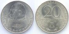 Pièce ALLEMAGNE EST communiste 20 mark DDR RDA 1973 Otto Grotewohl 1894 1964