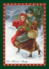 "4x6 Milliken In Winter Deep Emerald Christmas Area Rug - Approx 3'10""x5'4"""