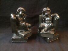 antique art deco Bookends Angels - cherubs .