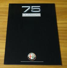Catalogue ALFA ROMEO 75 America de 1990
