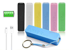 POWER BANK CARICA BATTERIA ESTERNA USB 2600mAh PER SMARTPHONE CELLULARE TABLET