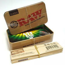 RAW Rolling Papers Embossed Tobacco Tin - Baccy Stash Storage