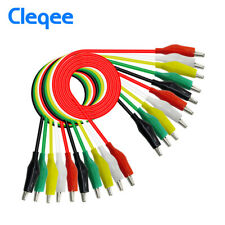 10PCS Alligator Clip Test Leads Set WG-026 Dual Ended Jumper Wire Cable 5 Colors