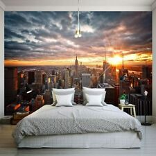 Photo Wallpaper Beautiful New York City Sunset Landscape Art Photography Back