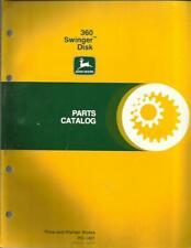 John Deere 360 Swinger Disk Parts Catalog