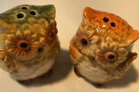 Salt and Pepper Shakers Vintage Owls Cute