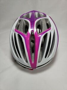 Specialized Aspire Helmet Small Womens White/Pink/Purple with Ponytail Port