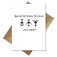 Funny Wine Aerobics Birthday Card - Birthday drinking workout joke