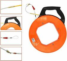Fiberglass Fish Tape Reel Wire Pulling Tools Electrical Cable Puller - YaeGarden