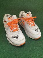 Nike Air Max 1 LX Just Do It Sportswear Total Orange White 917691-100 Sz 6.5