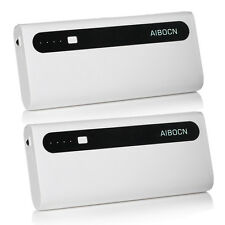 2 x Aibocn 10000mAh External Portable Charger Dual USB Power Bank for Cell Phone