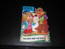 The Dog and the Wolf shaped picture book 1984. Brown Watson Fabulous Collection.