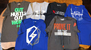 Lot of 6 Boys Under Armour T-Shirts Size Youth Medium.  Excellent Condition