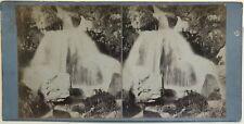 Cascade d'Enfer près Eaux-Chaudes France Photographie Stereo Vintage Albumine