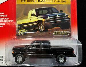 Johnny Lightning 96 1996 Dodge Ram Club Cab 2500 Pickup Truck Classic Gold w/RRs