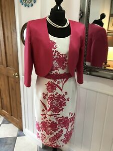 Lizabella Hot Pink Special Occasion Mother Of Bride Dress& JacketSize 12 New