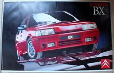 Citroen BX rouge affiche publicitaire double face (n°20)