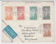 Denmark Stamps 1937 First Flight Airmail Cover To London Postal History