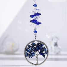 Handmade Blue Crystal Sun Catcher Tree of Life Window Hanging Ornament Gifts